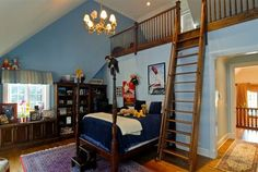 Great kid's bedroom with a fun loft! #dreamhome