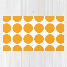 Melone Orange und White Polka Dot Area Rug (30 Farben) in 122 x 193 cm für 109,- EUR + 27 EUR Versand