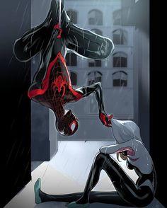 2,470 отметок «Нравится», 13 комментариев — Supercomics (@supercomic.s) в Instagram: «Spiderman and Spidergwen by Celine Lemlkuhler. ~ @havok.gfx»