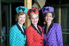 Vintage styled Satin Dolls Trio