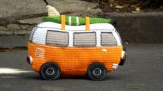 You'll love to make this adorable Crochet Volkswagen Bus and it's just one of many fabulous Free Patterns in our post. Check out the Vintage Caravan too.