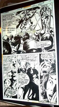 DRACULA ORIGINAL COMIC ART #14 Page #18 GENE COLAN old 1970'S
