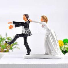 Reluctant Groom Wedding Cake Topper