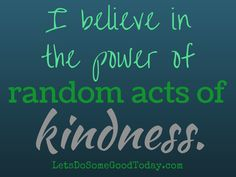 The Random Acts of Kindness Challenge