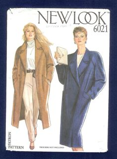 New Look 6021  Coat With Raglan Sleeves and Notched by lucysbud, $6.50