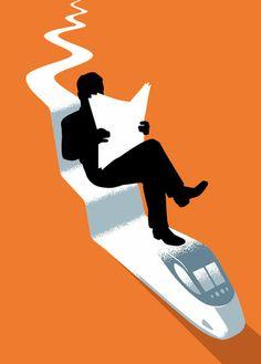 Reading is an endless journey / La lectura es un viaje interminable (ilustración de Christoph Niemann)
