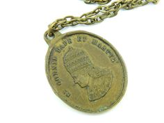Rare Saint Cornelius Necklace  Vintage Catholic by LuxMeaChristus