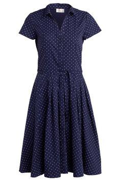 Ellos Casual Navy dress w. white dots
