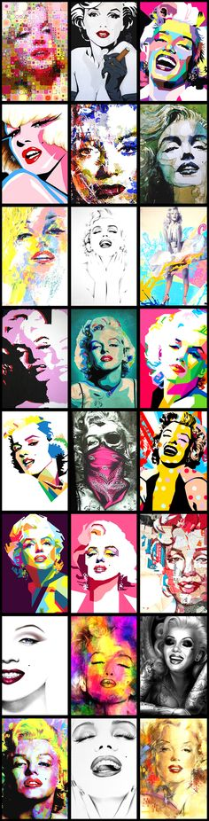 Marilyn Monroe Pop Art Montage ...... #popart #marilynmonroe #iconic #normajeane #pinup #art