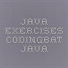 Java exercises CodingBat Java