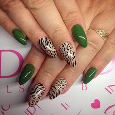 """Gel Polish Amazonia z Jungle Collection by Natalia Kondraciuk Indigo Young Team :) Więcej """"dzikich"""" pomysłów na paznokcie znajdziesz na www.indigo-nails.com #jungle #nails #indigo #gelpolish #polish J Nails, Love Nails, Indigo Nails, Colorful Nails, Nail Arts, Hair Dos, Nails Inspiration, Gel Polish, Nail Colors"""