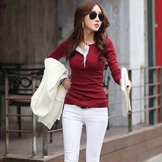 Hot trending item: Women Long Sleeve... Check it out here! http://jagmohansabharwal.myshopify.com/products/women-long-sleeve-button-cotton-shirts-casual-slim?utm_campaign=social_autopilot&utm_source=pin&utm_medium=pin