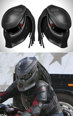 12 Awesome Pictures of the Predator Motorcycle Helmet - TechEBlog