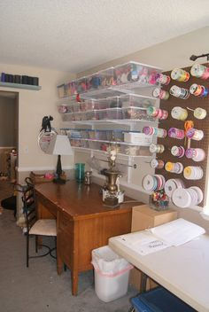 Craft Room Tour with Rebekah of Rebekah Dawn Designs on Craftaholics Anonymous