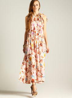 Silk Georgette Halter Dress