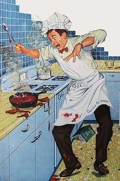 Un genio en el trabajo casero, se me ocurre que el anuncio puede ser de un limpiador o de una enciclopedia gastronomica