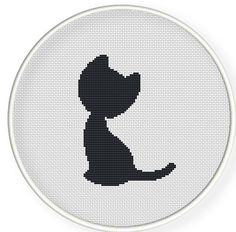 Instant download,free shipping,Cross stitch pattern, Cross-Stitch PDF,grey cat,zxxc0231