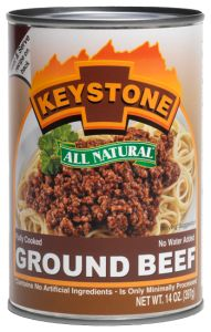Keystone All Natural Ground Beef - Canned