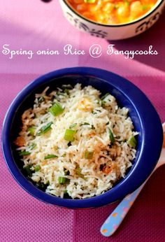 CONCOCTIONS OF A COOKAHOLIC !!!: Spring Onion Rice/Vengaya Thal Sadham