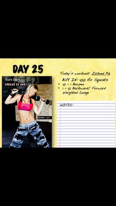 Zuzka #25 Daily Workouts, Body Workouts, Burpees, Lunges, Workout Programs, Full Body, Calendar, Nutrition, Exercise