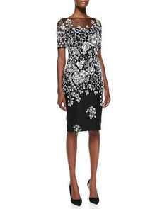 SALE! Badgley Mischka Short-Sleeve,knee length Floral Overlay Cocktail Dress,Size 0,NEWw/ TAGS! starting at $70!  http://www.ebay.com/itm/-/131593778656?roken=cUgayN&soutkn=ckSkfR