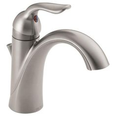 Delta Lahara Single Hole One Handle Bathroom Faucet 538-MPU-DST