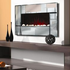 I'm obsessed with these electric fireplaces // Clifton Electric Fireplace Heater With Remote