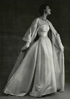 Christian Dior 1953 Evening Gown, Photo by Phillippe Pottier