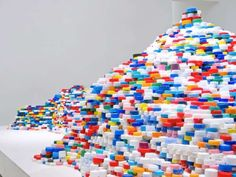 Lego-Inspired ExhibitsMade from a number of small fragments, this dynamic piece highlights primary colors, making for a powerful visual statement that gains attention for all the right reasons. Showcased in Rome's Winter Garden exhibit, this stunning piece is playful and fun, allowing viewers to experience and interact with it from every angle.