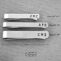 Groomsmen gift Personalized Tie Clip Skinny Tie clip by JewelMango