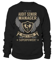 Audit Senior Manager Superpower Job Title T-Shirt #AuditSeniorManager