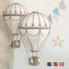 Diy Crafts For Kids, Home Crafts, Shabby Chic Campers, Deco Marine, Baby Barn, Balloon Crafts, Stationery Craft, Baby Mobile, Recycled Art