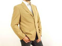 6eb96290c Hugo Boss blazer, Hugo Boss suit jacket, brown sand color blazer, Size Eur