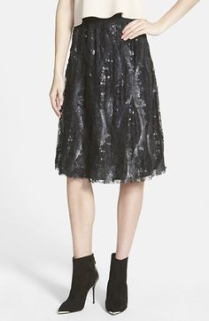Tildon Sequin Lace Skirt available at #Nordstrom
