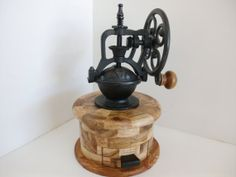Coffee Grinder    Round  by HandCraftedbyEarl on Etsy, $85.00
