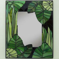 "Mosaic Mirror - ""Just Greens"" by smashglassworks [SOLD]"