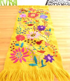 Hand embroidered table runner from Chiapas, Mexico