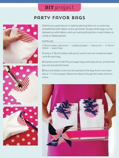 #DIY Tutorial: Embellished Party Favor Bags from @Kelly {The Party Dress + WH Hostess}'s new book #StylishKidsParties