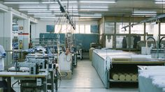 Step into one of the production lines of the oxford shirt.