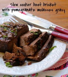 Slow cooker Southwestern beef brisket. Slice it for sandwiches, or ...