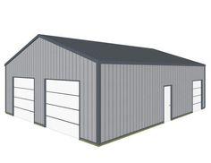 Pole barn garage my 30x40 pole barn garage pics the for 10 x 7 garage door menards