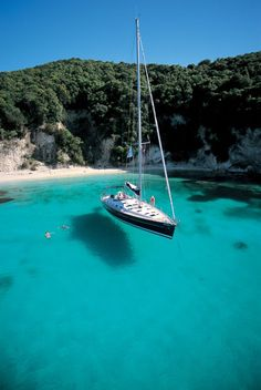 Kalokeri anchored of Anti Paxos Greece want to do this . swim in the shallows and travel by yacht. Kalokeri anchored of Anti Paxos Greece want to do this . swim in the shallows and travel by yacht. Paxos Greece, Sailboat Living, Sailing Trips, Sailing Yachts, Sailing Boat, Voyage Europe, Yacht Boat, Greece Travel, Greek Islands