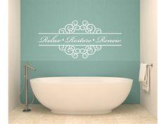 Relax Restore Renew Bathroom Vinyl Wall Decal 1 door StickerHog