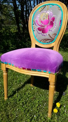 Relooking chaise MdM Lexquisetrouvaille