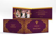 "Danksagungskarte Hochzeit ""Istanbul"" DIN lang Klappkarte"
