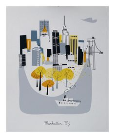 Look at this Manhattan City Print on #zulily today!
