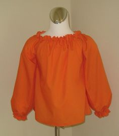 Custom Boutique Orange Long Sleeve Peasant Top 12M by FRANCISBEL