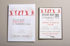 Skylight Music Theatre Gala invitation set on Behance