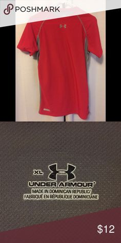 Under Armour Tee Red and grey Under Armour quick dry short sleeve shirt Tops Tees - Short Sleeve