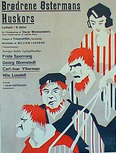 Movie poster by Sven Brasch (1886-1970),1925, BrØdrene Østermans Huskors. (Swedish)